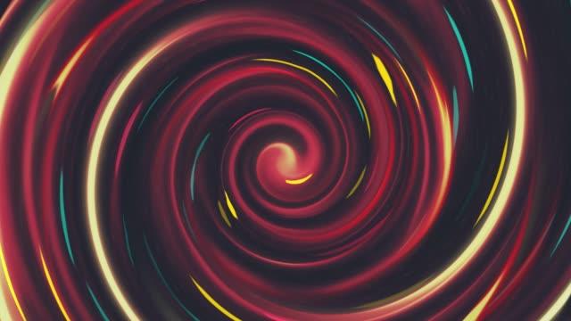 Bunter Tunnel auf dunklem Hintergrund und nahtlose Schleife, Abstrakte Bewegung Design Kreis Hintergrundanimation für die Konzepte von Wirbel, Tunnel, Internet, Daten, Bildung, Web und mobile – Video