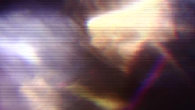 colorato vhs glitch neon futuristico sfondo animazione psichedelica - fotografia immagine video stock e b–roll