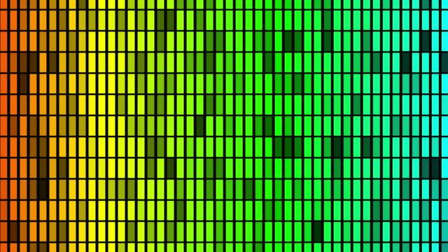 Colorful vj loop equalizer