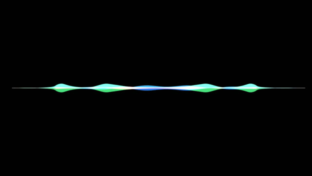 colorful waveform, imagination of voice record, artificial i video