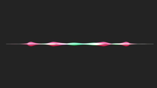 colorful waveform, imagination of voice record video