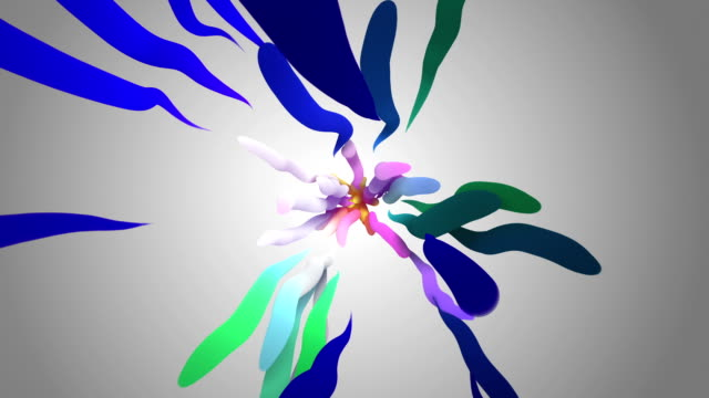 Colorful Wavy Curves (Loopable) video