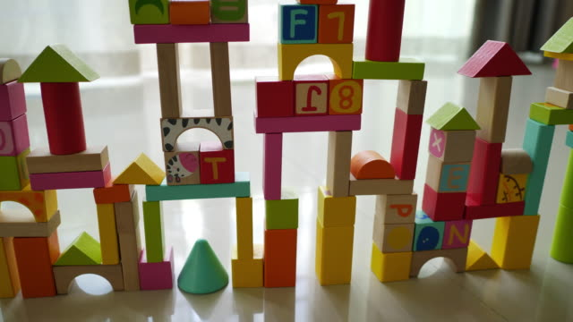 colorful wooden toy block