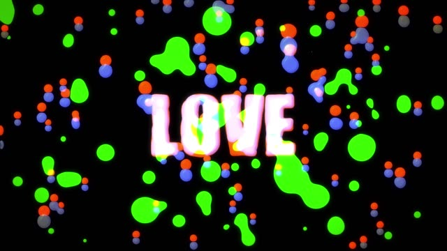 colorful word love