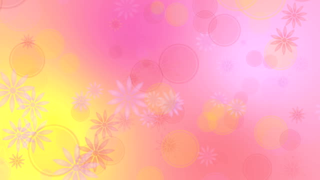 五顏六色的黃色粉紅色背景與花 - 亞洲中部 個影片檔及 b 捲影像