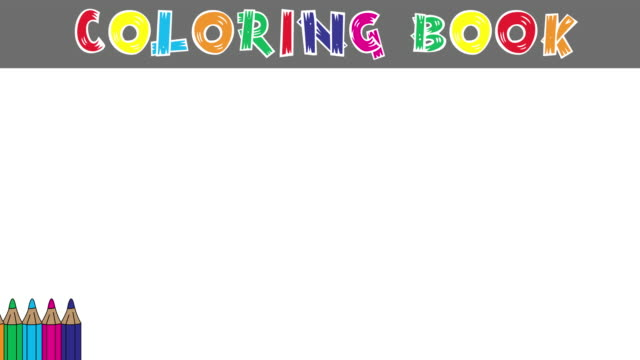 Coloring book: Empty for cartoon characters.