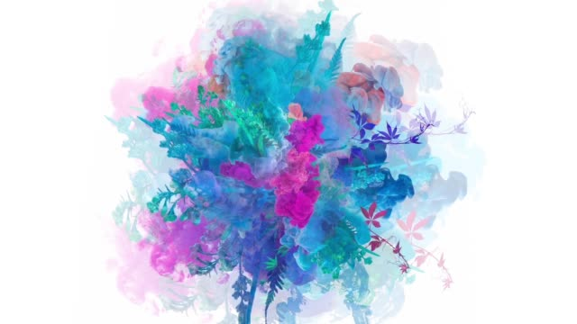 Colors exploding with flowers