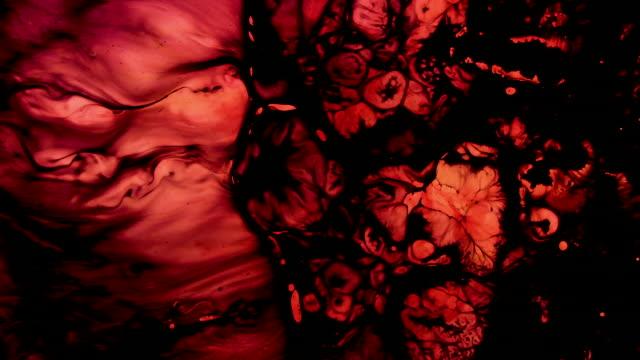 hareket halindeki renkler - lekeli kirli stok videoları ve detay görüntü çekimi