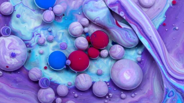 färger i rörelse - akrylmålning bildbanksvideor och videomaterial från bakom kulisserna