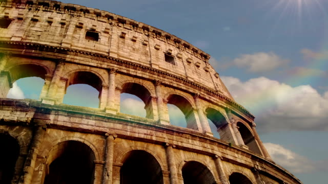 Colosseum in Rome, Italy. Time Lapse. video