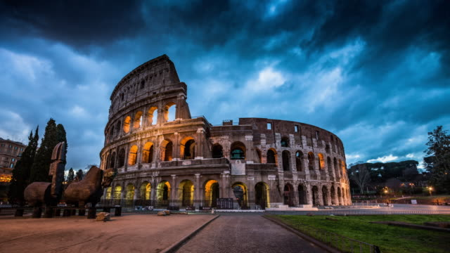 colosseum in rome, italy - time lapse - italian architecture stock videos & royalty-free footage