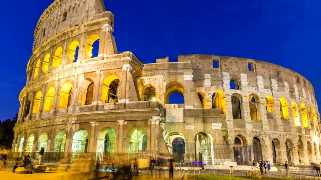 ローマのコロッセオ、タイムラプス ビデオ