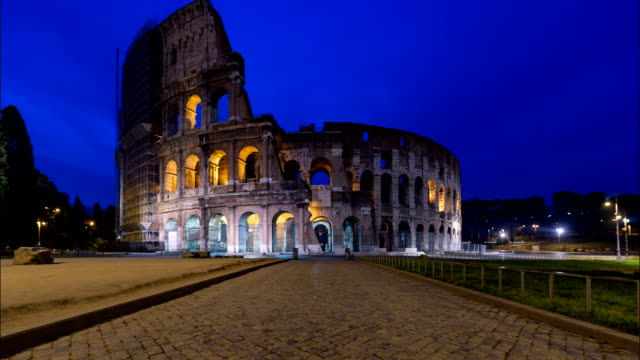 Colosseum, Rome, Night to Day Time Lapse video