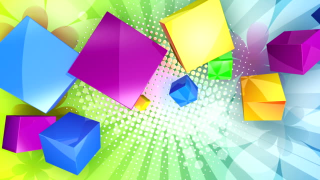 Colourful Cubes Background (Loopable) video