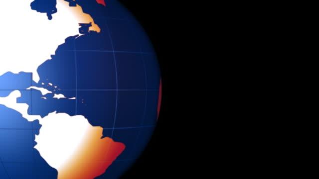 Colourful Globe video