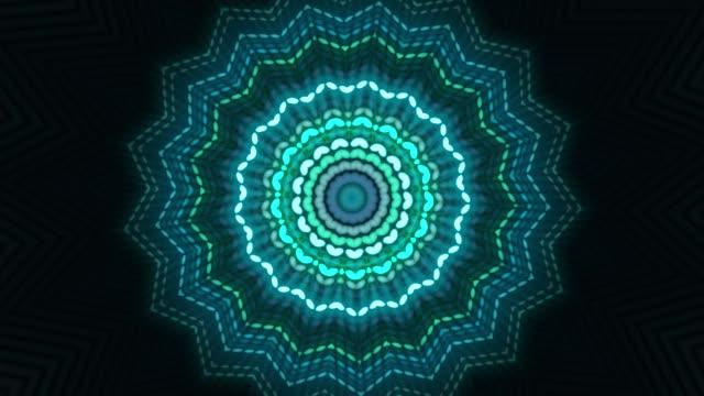 vidéos et rushes de animation kaléidoscope coloré - psychédélique