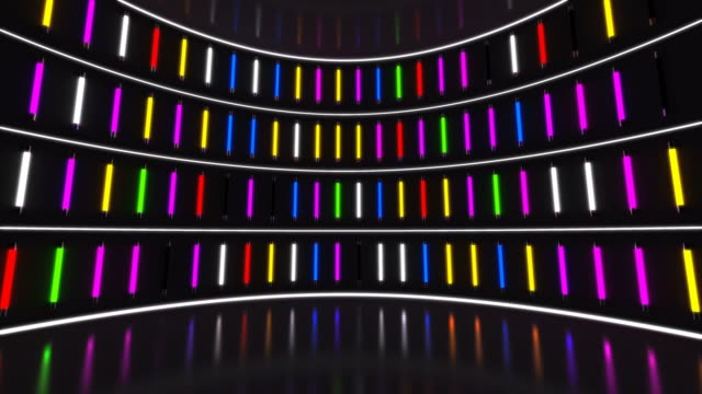 Colourful Neon Party Lights Stage Light, Party, Illuminated, Stage - Performance Space, Backgrounds stage light stock videos & royalty-free footage
