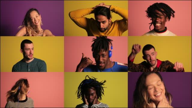Video Colourful Portrait Montage