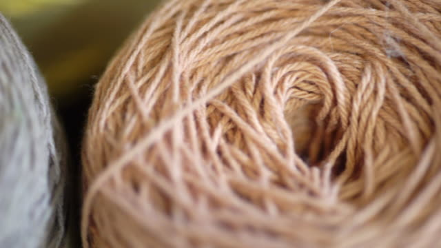 Colourful yarn wool with natural dye for embroidery and knitting.