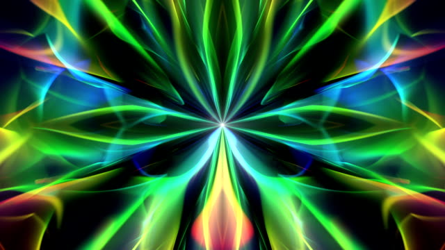 colove - ciclo di sfondo video artistico caleidoscopico - caleidoscopio motivo video stock e b–roll