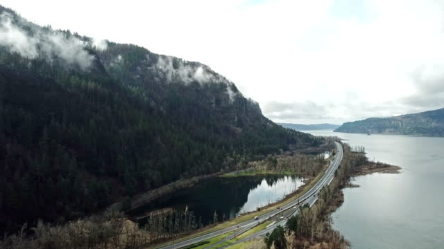 Columbia river gorge time lapse video