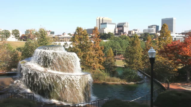 Columbia, South Carolina Finlay Park  is the largest and most visited park in downtown Columbia, South Carolina. south carolina stock videos & royalty-free footage