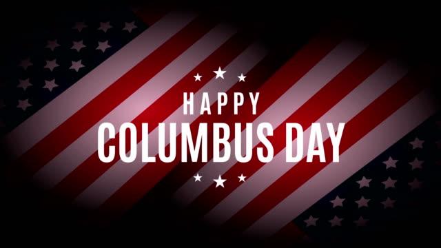 콜럼버스 의 날 4k 애니메이션. - columbus day 스톡 비디오 및 b-롤 화면