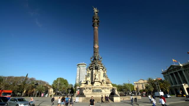 Kolumbus-Statue in Barcelona, Zeitraffer – Video