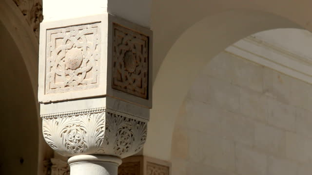 Column capital with oriental ornament. video