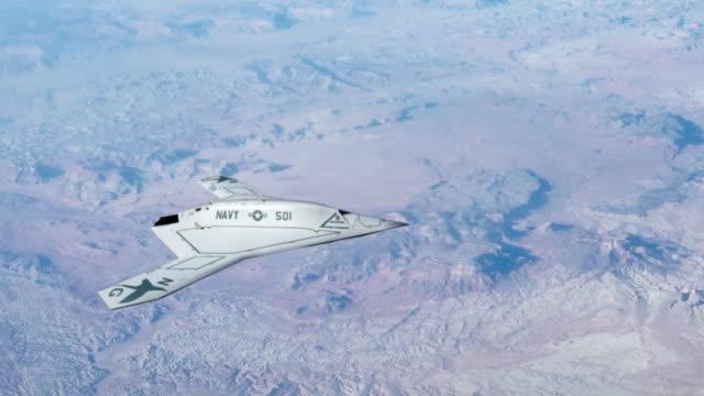 x -47 b コンバット空の乗り物 - こっそり点の映像素材/bロール