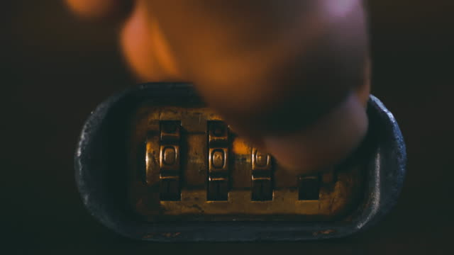 combination padlock. - safes and vaults stock videos & royalty-free footage