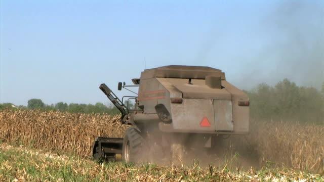 Combine Harvesting Corn 07 video