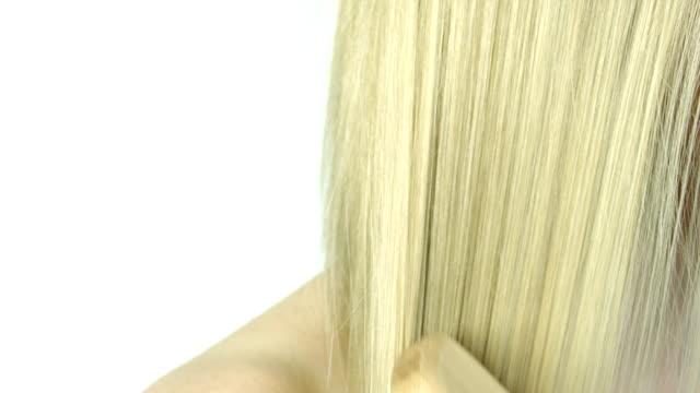 最上級の髪 - ブラシ点の映像素材/bロール