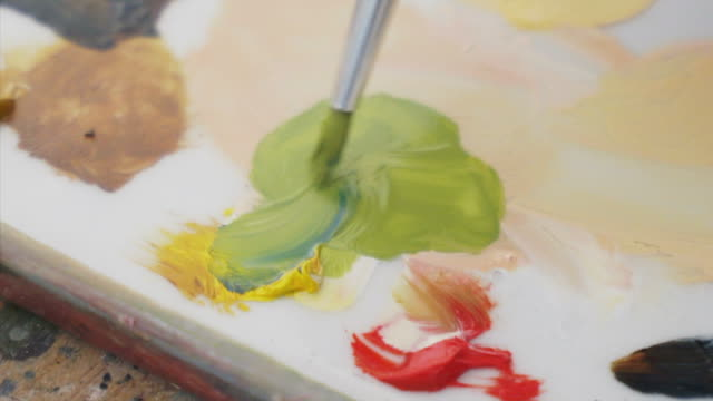 Combining acrylic colors. video