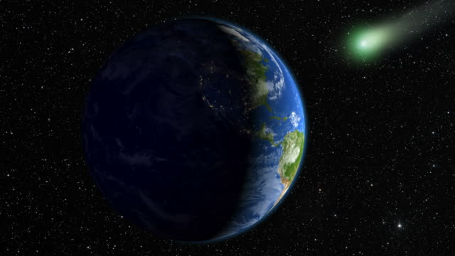 Comet approaching the Earth video