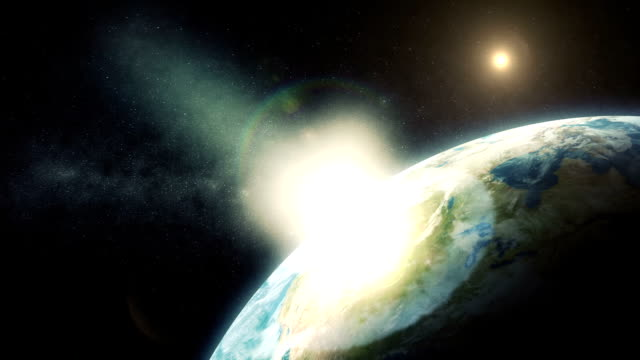 Comet Impact on Planet Earth