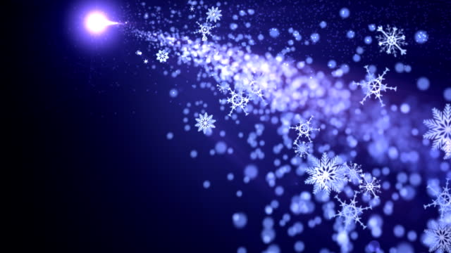 Comet Trailing Particles and Snowflakes video