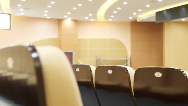 comfortable chairs in modern luxury conference hall video