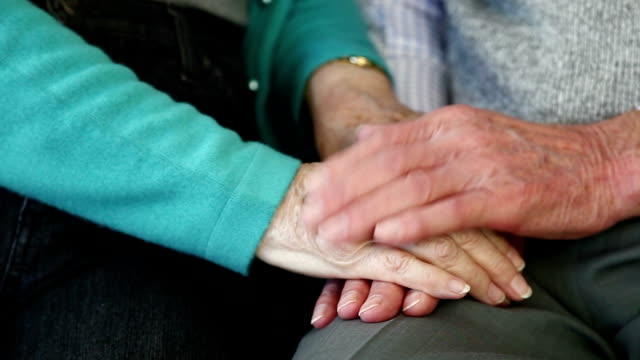 Comforting hands. video