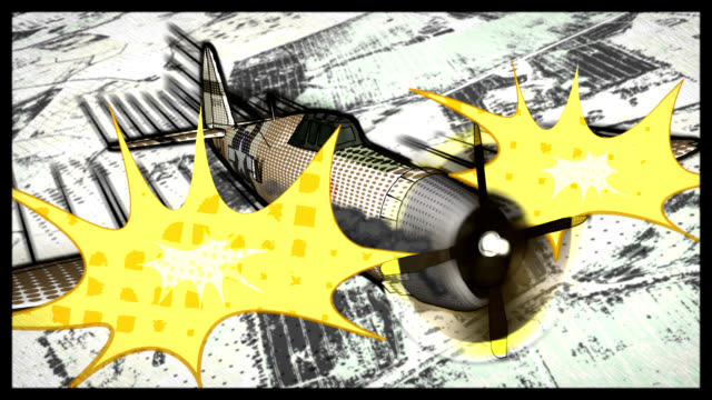 Comic Book Style P-47 Thunderbolt video