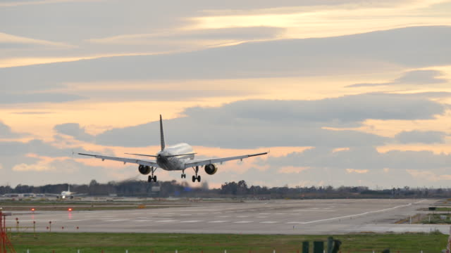 Commercial Aircraft Landing at Barcelona Airport video