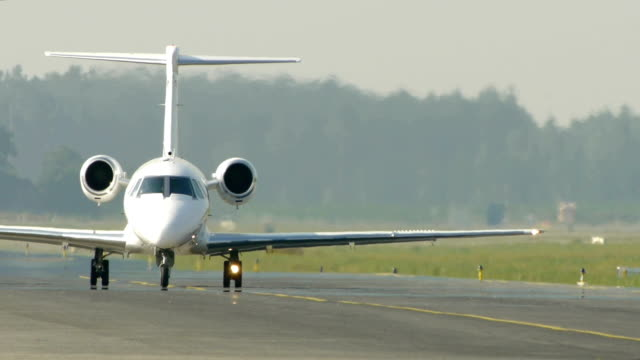 HD - Commercial aircraft on the runway video