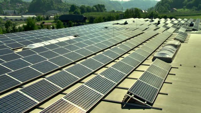 AERIAL Commercial Solar Panels video