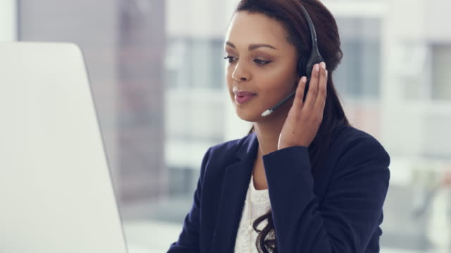 committed to taking care of her customers - call centre stock videos & royalty-free footage