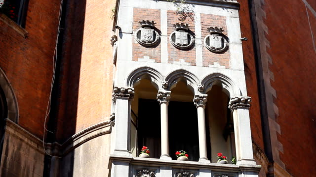 common window balcony with flowers architecture in Istanbul video