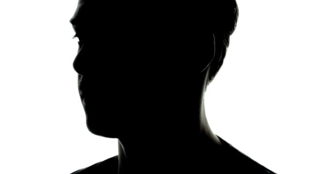Common Young Adult Man Shape in Silhouette