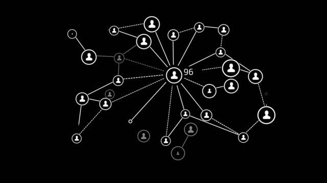 vídeos y material grabado en eventos de stock de comunicación entre personas. con canal alfa - compartir