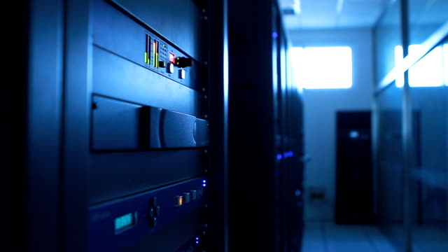 Communication machine room equipment. video