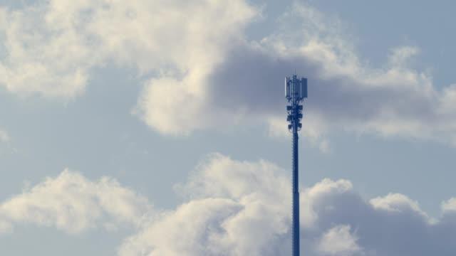 kommunikationstornmoln - antenn telekommunikationsutrustning bildbanksvideor och videomaterial från bakom kulisserna