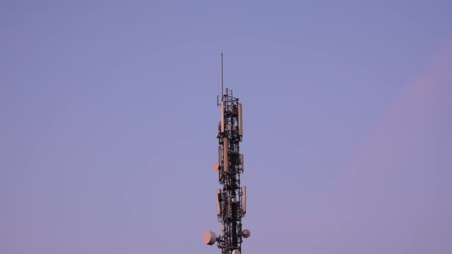 communication tower for internet antennas